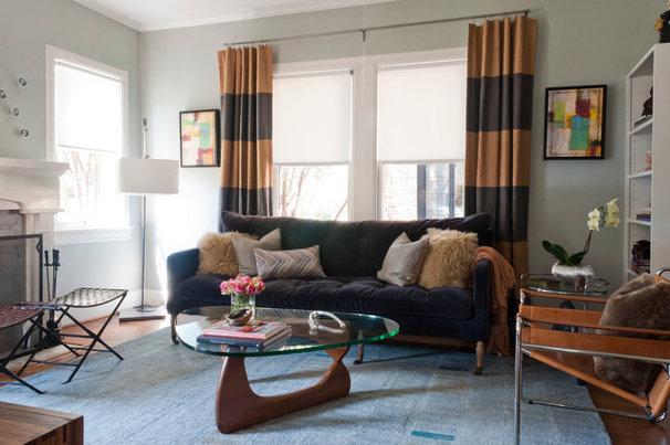 Contemporary Living Room by Angela Flournoy