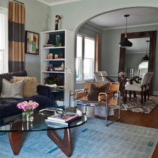 Contemporary Living Room by Angela Flournoy
