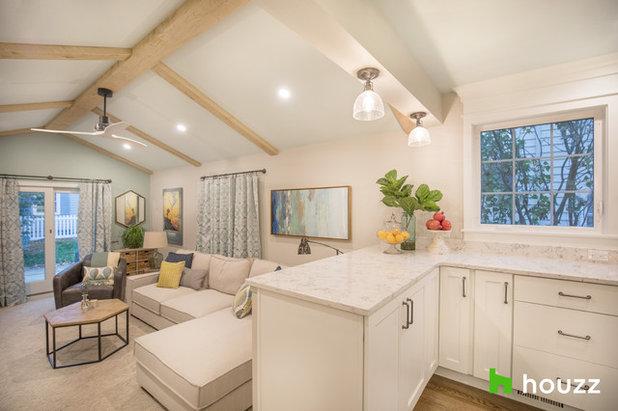 Transitional Living Room by Hurst Design Build Remodeling