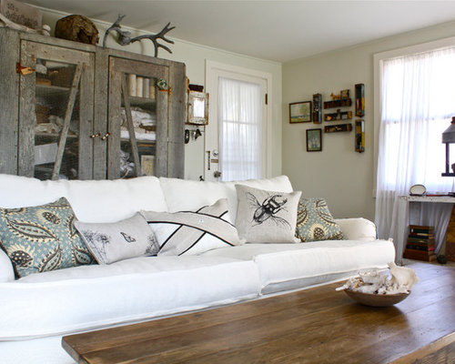 Example Of A Mid Sized Eclectic Living Room Design In San Francisco