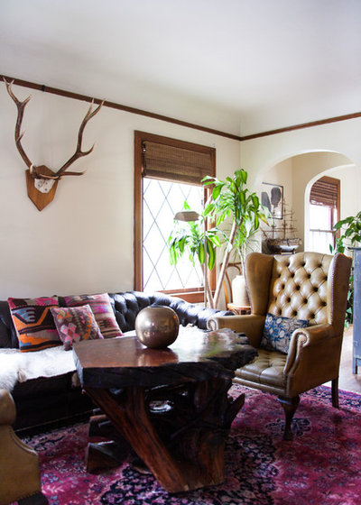 Eclectic Living Room by Ellie Lillstrom Photography