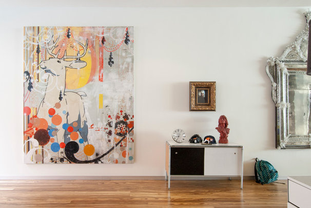 Contemporary Living Room by Adrienne DeRosa