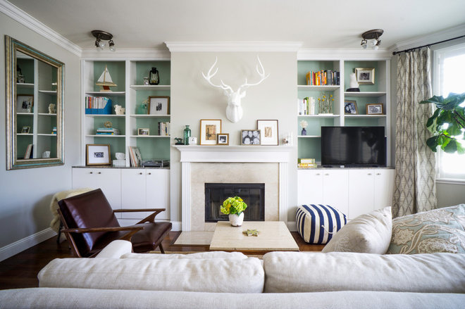 Transitional Living Room by Hoi Ning Wong