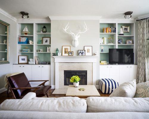 Built In Living Room Shelves | Houzz