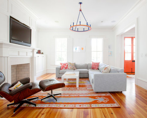 Neutral Pallet With Pops Of Color Living Room Ideas & Photos | Houzz