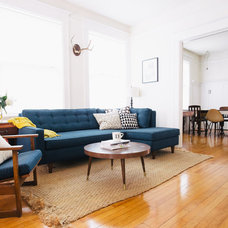Midcentury Living Room by Nanette Wong