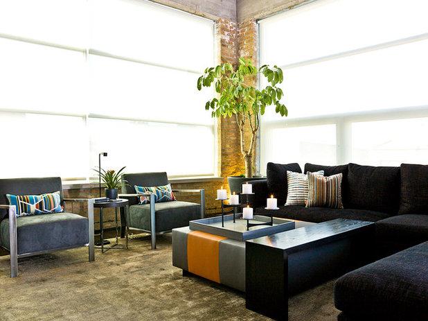 Contemporary Living Room My Houzz: A Chicago Auto Shop Revs Up to a Cool Home