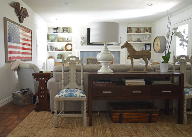 Farmhouse Living Room by Sarah Greenman