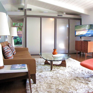 Example of a 1950s living room design in Orange County