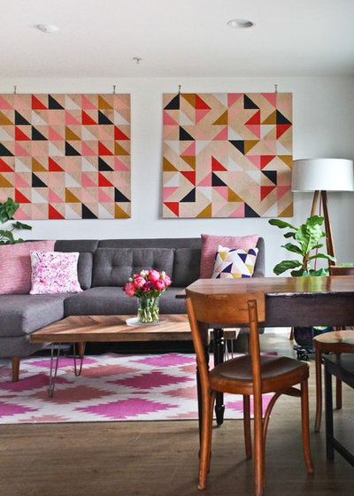 Transitional Living Room by Caela McKeever