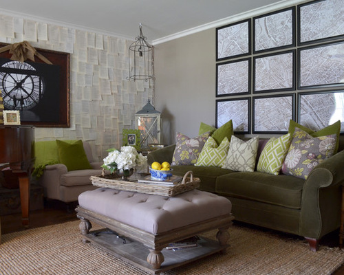 Gray and Green Living Room Living Room Design Inspirations