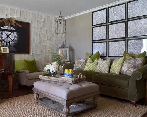 inspiration for an eclectic living room remodel in other with gray