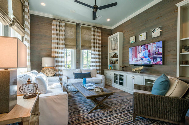 Beach Style Living Room My Houzz A Family Retreat On The Gulf Of Florida