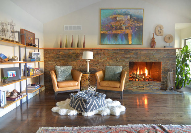 Simple Midcentury Living Room by Sarah Greenman