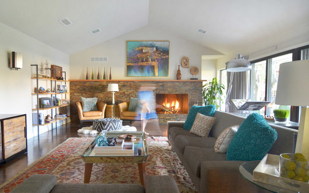 Nice Midcentury Living Room by Sarah Greenman
