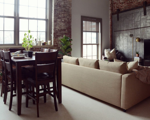 Example Of An Urban Living Room Design In Boston