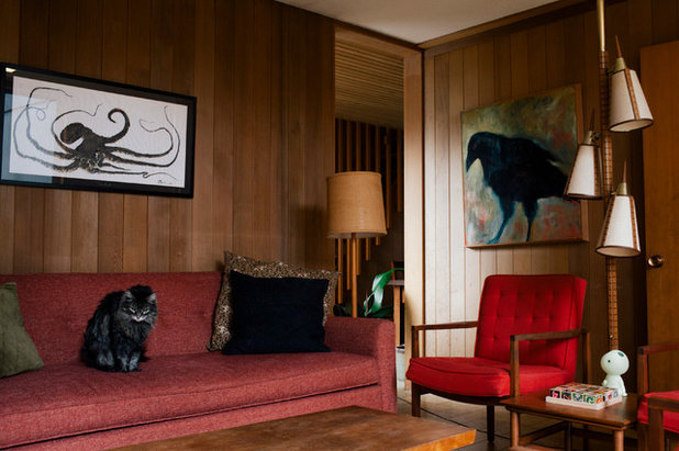 Midcentury Living Room by Ellie Lillstrom Photography