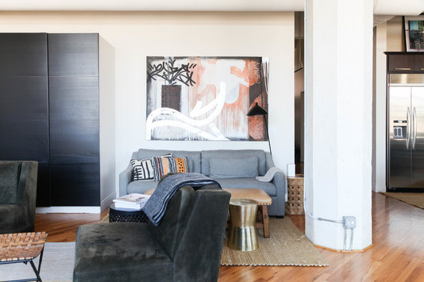 Industrial Living Room by Rachel Loewen Photography