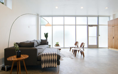 My Houzz: Clutter-Free Minimalism for a Converted Brick Storefront