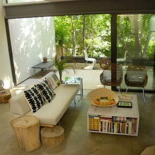 Immagine di un soggiorno minimalista