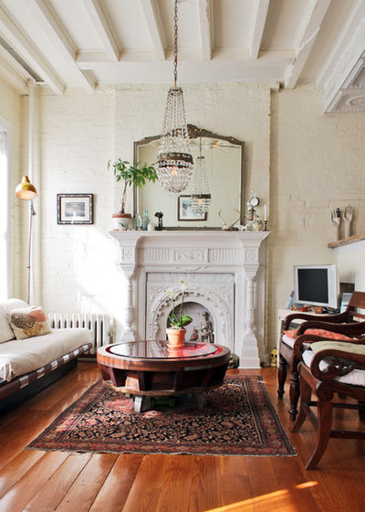 Shabby-Chic Style Living Room by Laura Garner