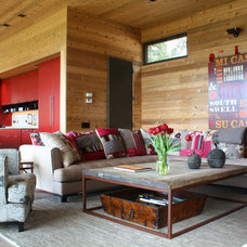 Rustic Living Room by Shannon Malone