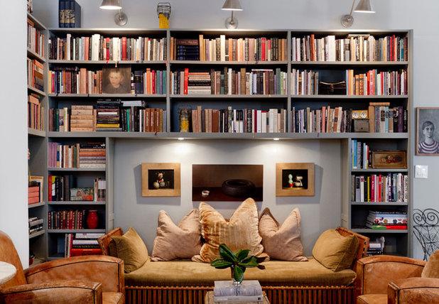 Transitional Living Room by Rikki Snyder