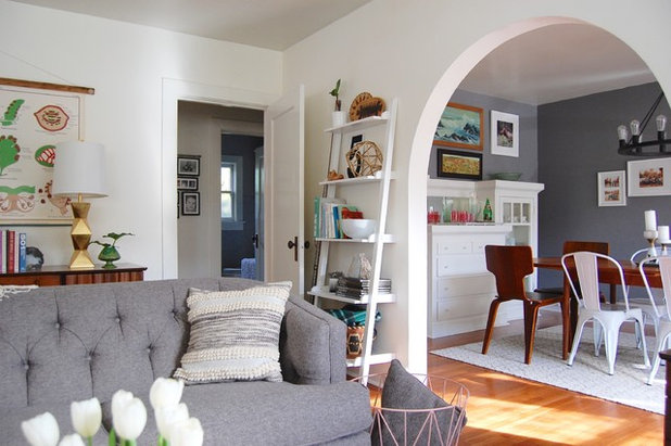 Eclectic Living Room by Corynne Pless