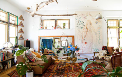 USA Houzz: '70s Design Inspires Bohemian Haven