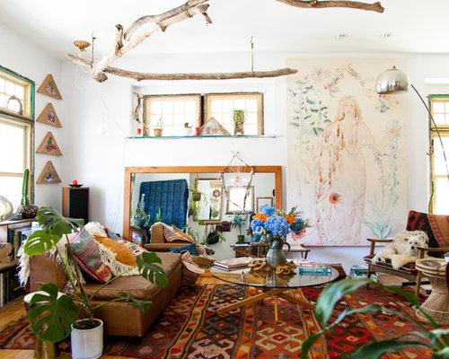 735 bohemian style living room design photos bohemian style living room