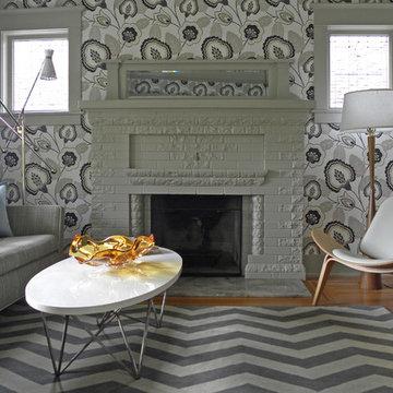 My Houzz: Bold Wallpaper Kicks Up a Century-Old Craftsman