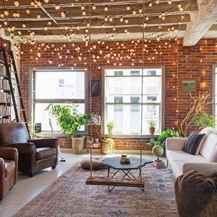Urban Living Room Photo In Los Angeles