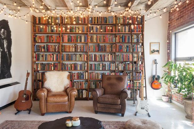 Industrial Living Room by Carolyn Reyes