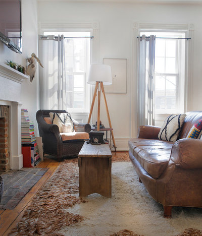 Awesome Eclectic Living Room by The Phoenix Photography