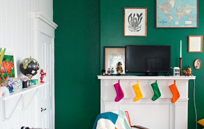 My Houzz: Bright and Playful Colors in a Kentucky Family Home
