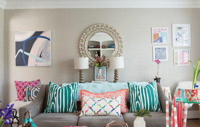 My Houzz: Bright Colors in a Virginia Family Home
