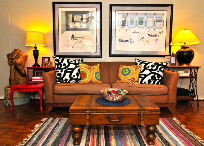 Eclectic Living Room by Valerie McCaskill Dickman