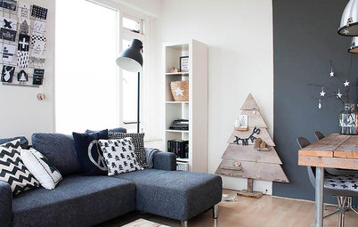 My Houzz: Black and White Make a Dutch Apartment All Right