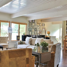 Farmhouse Living Room by Kimberley Bryan