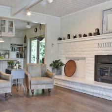 Farmhouse Living Room by Kimberley Bryan