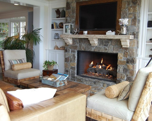 Stacked Stone Fireplace Surround Design Ideas Amp Remodel