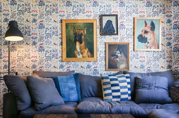Eclectic Living Room by STRUKTR Studios Photography