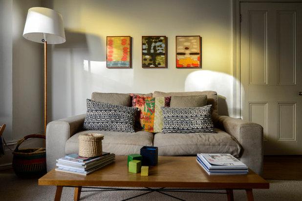 Klassisch modern Wohnbereich My Houzz: Casual Comfort in a London Victorian