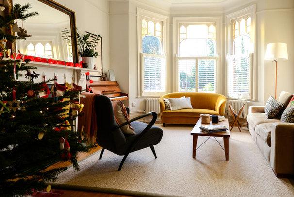 Transitional Living Room Adamo Family