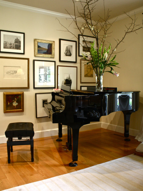 Wall piano houzz for Grand piano in living room