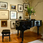 English Hill Music Room Traditional Living Room