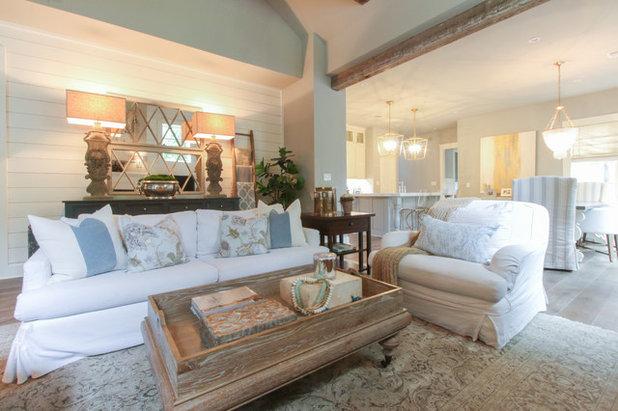 Shabby-chic Style Living Room by Michaela Dodd