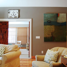 Rustic Living Room by Corynne Pless