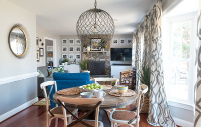 My Houzz: Cheerful Color and Patterns in a Virginia Family Home