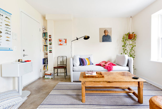 My Houzz: Clean Style Perks Up an Open Brooklyn Apartment